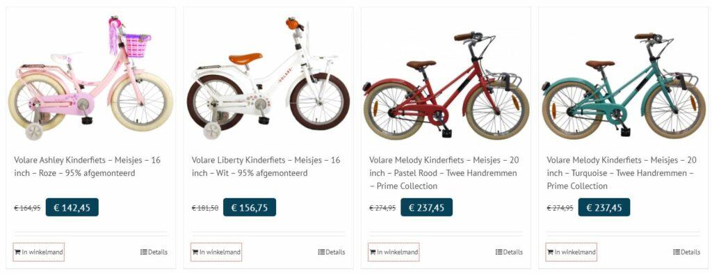 Kinderfietsen.com fietsen