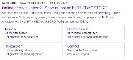 Advertentietekst Google AdWords