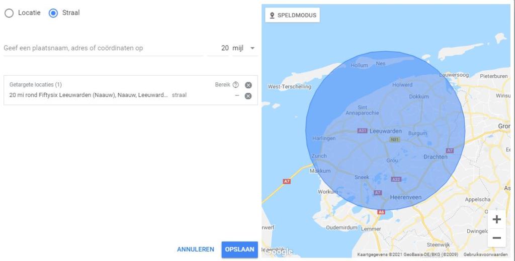 Google AdWords segmentatie