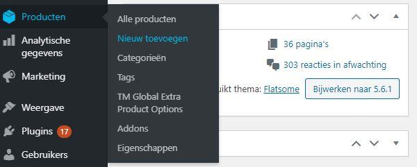 WordPress webshop product pagina's